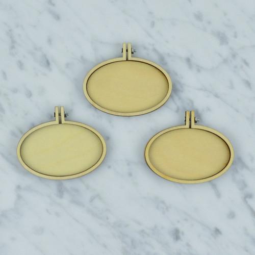 Mini oval landscape embroidery hoop frame