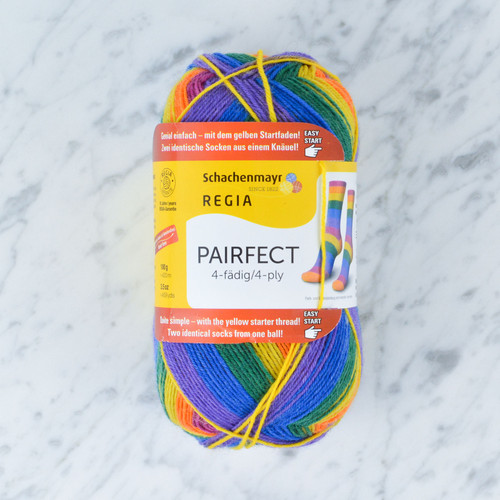 Pairfect 4 Ply Sock Yarn: Rainbow 100g