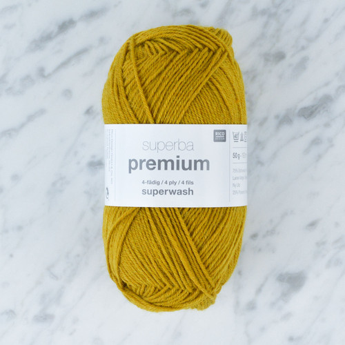 Superba Premium 4 Ply Sock Yarn: Mustard 50g