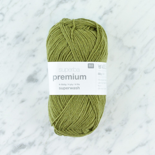 Superba Premium 4 Ply Sock Yarn: Olive 50g