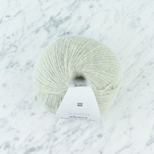Superba Alpaca Luxury 4 Ply Sock Yarn: Silver Grey 100g