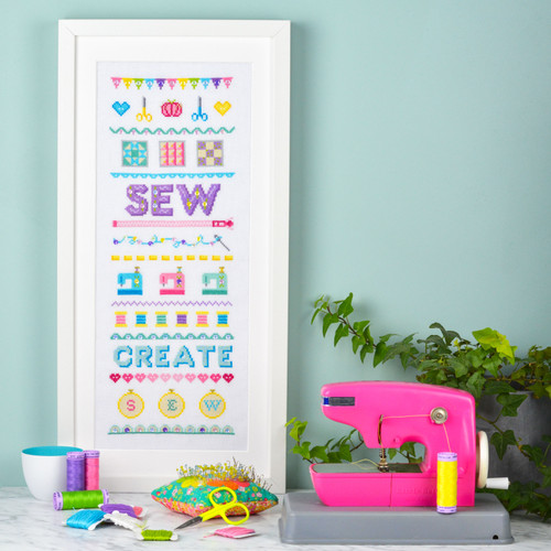 SEW Sampler - instant download pdf cross stitch pattern