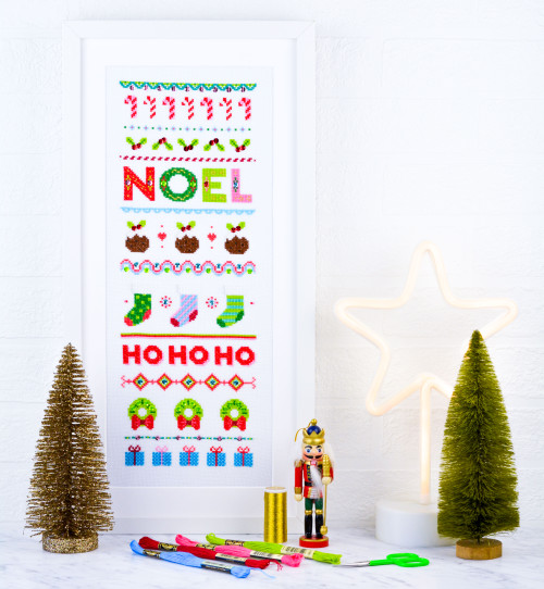 NOEL Sampler - instant download pdf cross stitch pattern
