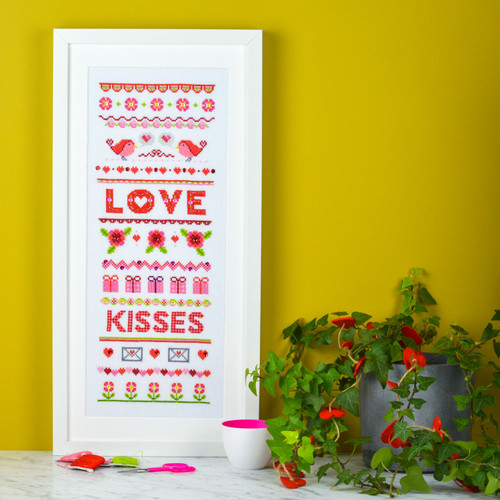 LOVE Sampler - instant download pdf cross stitch pattern