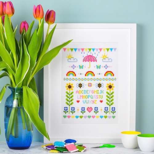 SPRING Sampler - instant download pdf cross stitch pattern