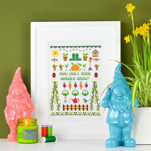 GARDEN Sampler - instant download pdf cross stitch pattern