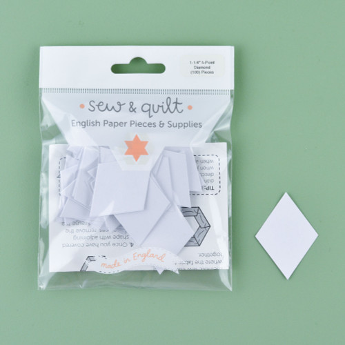 """1.25"""" 5 Point Diamond English Paper Pieces: Pack of 100"""