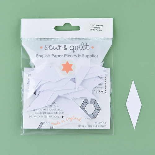 "1.25"" 10 Point Diamond English Paper Pieces: Pack of 100"