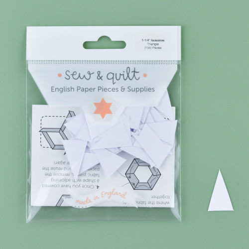 "1.25"" Isosceles Triangle English Paper Pieces: Pack of 100"