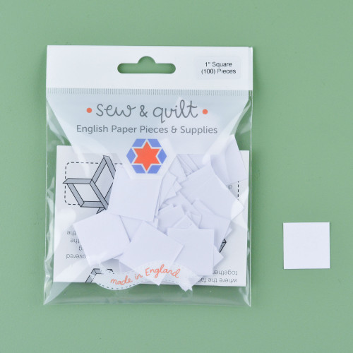 """1"""" Square English Paper Pieces: Pack of 100"""