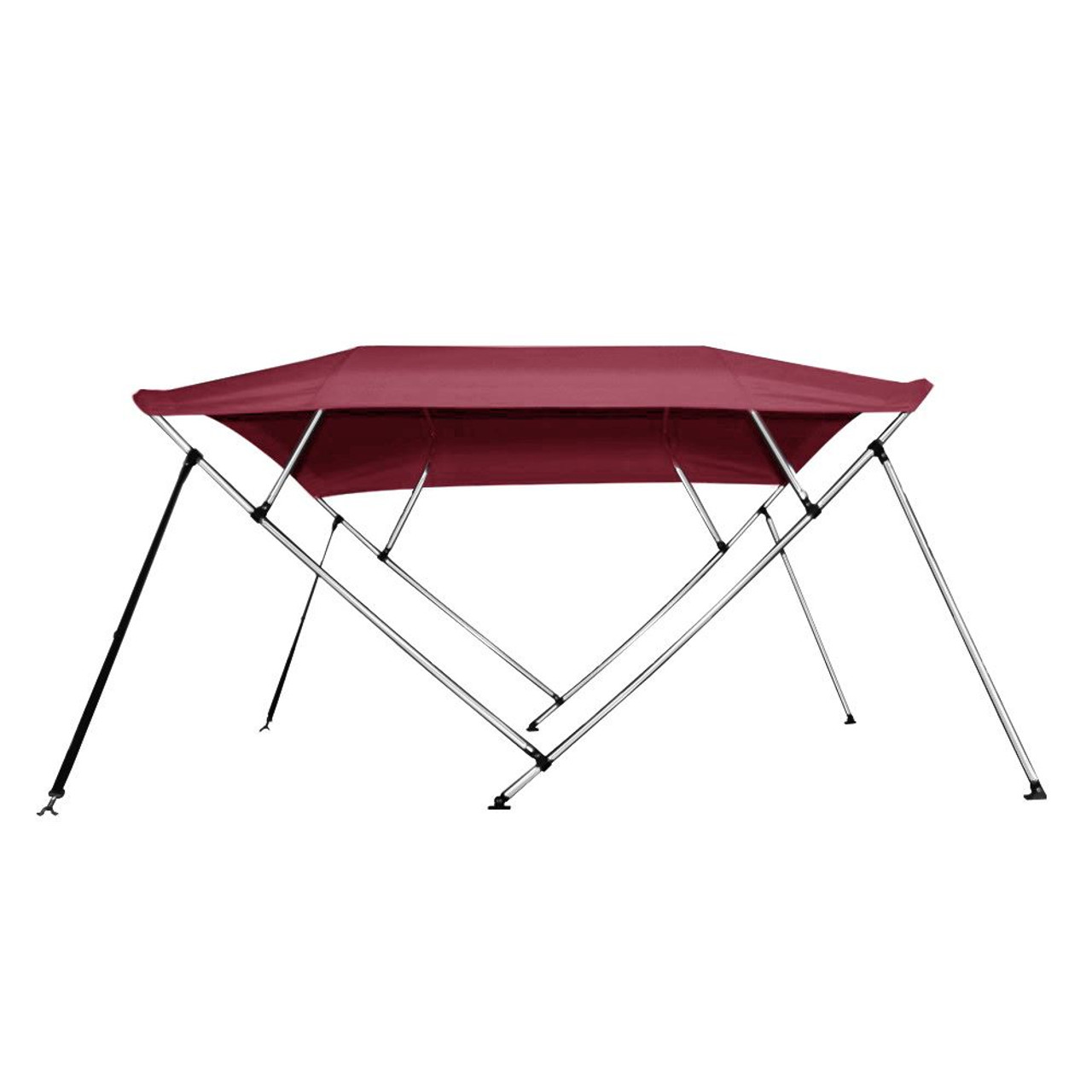 """BIMINI TOP 4 Bow Boat Cover Gray 67/""""-72/"""" Wide 8ft Long With Rear Poles"""