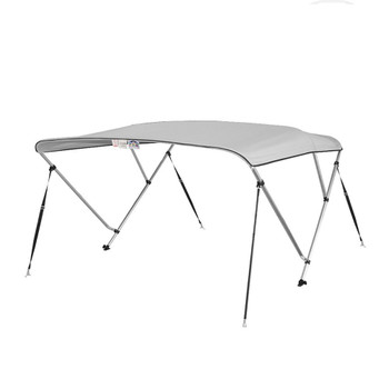 "Bimini Top Boat Cover 36"" High 3 Bow 6' ft. L x 67"" - 72"" W GRAY"