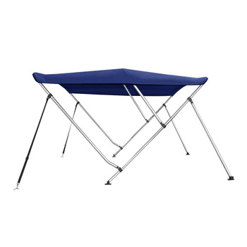 "Bimini Top Boat Cover 46"" High 3 Bow 6' ft. L x 67"" - 72"" W BLUE W/ Rear Poles"