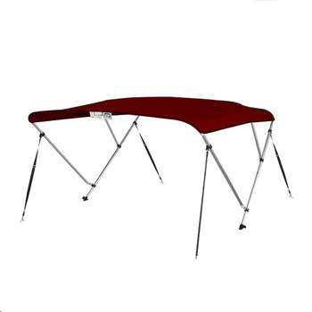 "Bimini Top Boat Cover 36"" High 3 Bow 6' ft. L x 73"" - 78"" W BURGUNDY"
