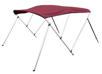"Bimini Top Boat Cover 46"" High 3 Bow 6' ft. L x 73"" - 78"" W BURGUNDY"