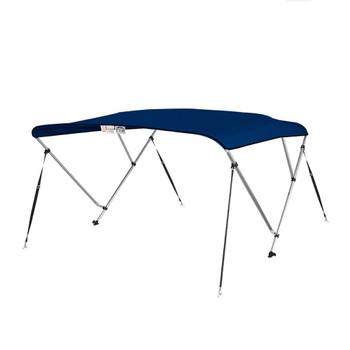 "Bimini Top Boat Cover 36"" High 3 Bow 6' ft. L x 73"" - 78"" W NAVY BLUE"