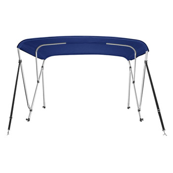 "Bimini Top Boat Cover New 46"" High 3 Bow 6' ft. L x 73""-78"" W Navy Blue W/ Rear Poles"