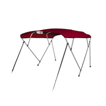 "4 Seasons Pontoon Bimini Top Boat Cover 4 Bow 54"" H 85"" - 90"" W 8 ft. Long Burgundy"