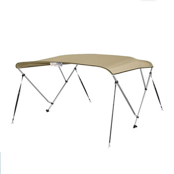 "Bimini Top Boat Cover 36"" High 3 Bow 6' ft. L x 73"" - 78"" W BEIGE"