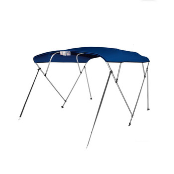 "Pontoon Bimini Top Boat Cover 4 Bow 54"" H 73"" - 78"" W 8 ft. Long Navy Blue"