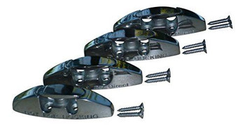 Marine & RV Direct 316s Stainless Steel Boat Fender Cleats, Set of 4 (Mounting Screws Included)