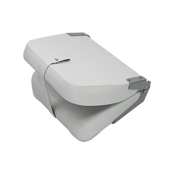 Marine & RV Direct Deluxe High Back Folding Marine Boat Seats in White (Set of 2)