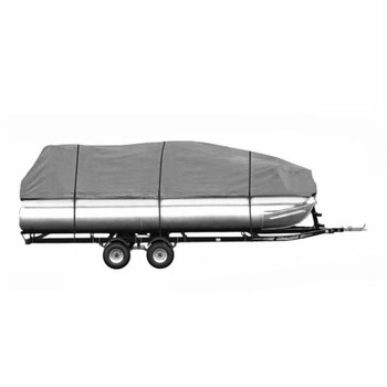 DELUXE- Four Seasons Brand PREMIUM 25 - 28 FOOT PONTOON Boat Cover Gray
