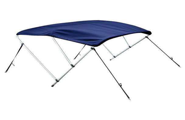 "Bimini Top Boat Cover 36"" High 3 Bow 6' ft. L x 67"" - 72"" W NAVY BLUE"
