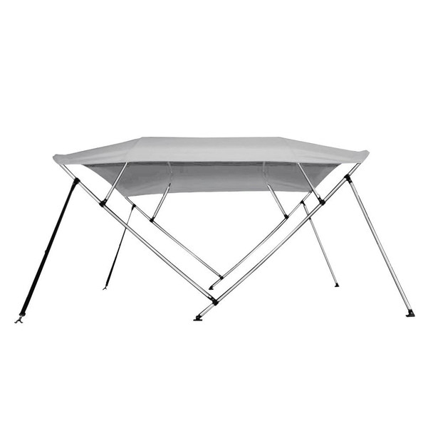 "New Pontoon Bimini Top Boat Cover 4 Bow 54"" H 73"" - 78"" W 8 ft. Long Gray"
