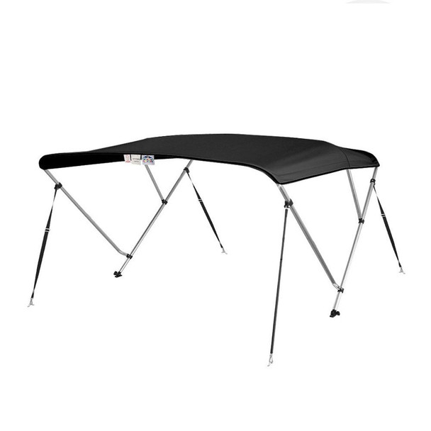 "Bimini Top Boat Cover 36"" High 3 Bow 6' ft. L x 79"" - 84"" W SOLUTION DYE BLACK"