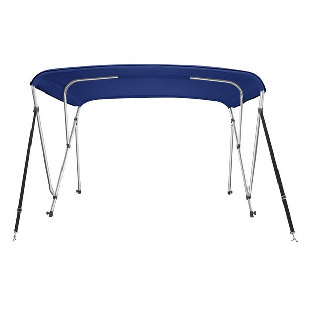 """Bimini Top Boat Cover 46"""" High 3 Bow  79""""-84"""" Wide 6' L NAVY BLUE, w/ Rear Poles"""
