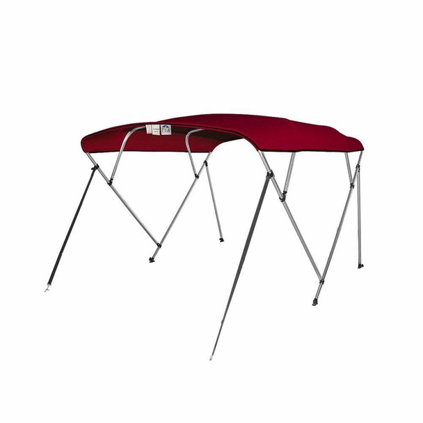 "Bimini Top Boat Cover 4 Bow 8ft. Long[54"",73"" - 78"",Bugundy]"