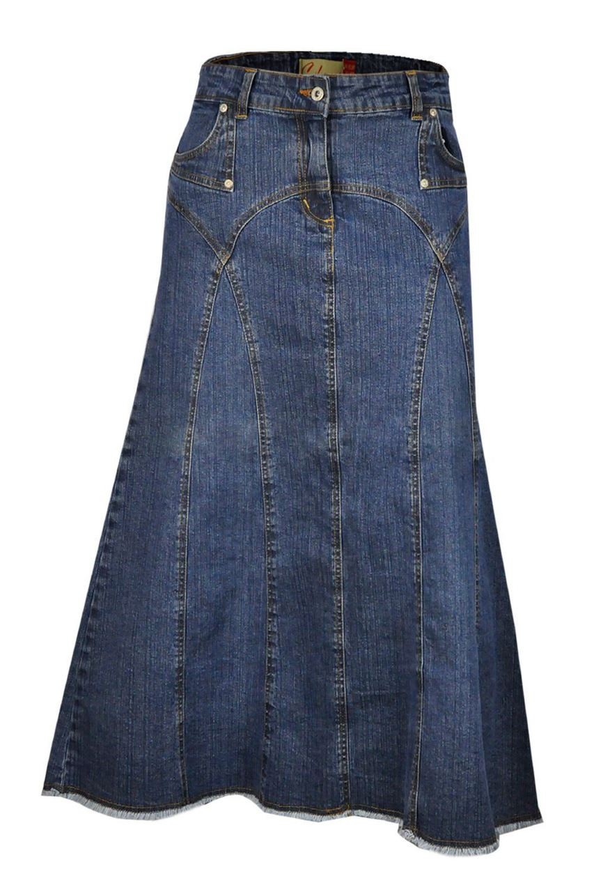 dd7cb1c04 Maxi Denim Skirt Plus Size UK | Clove Long Length Skirts Online