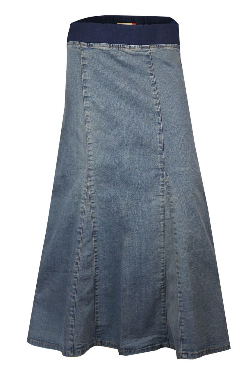 sale uk 100% authentic best online Clove Women Soft Wash Stretch Denim Ankle Length Maternity Skirt Size 8-24