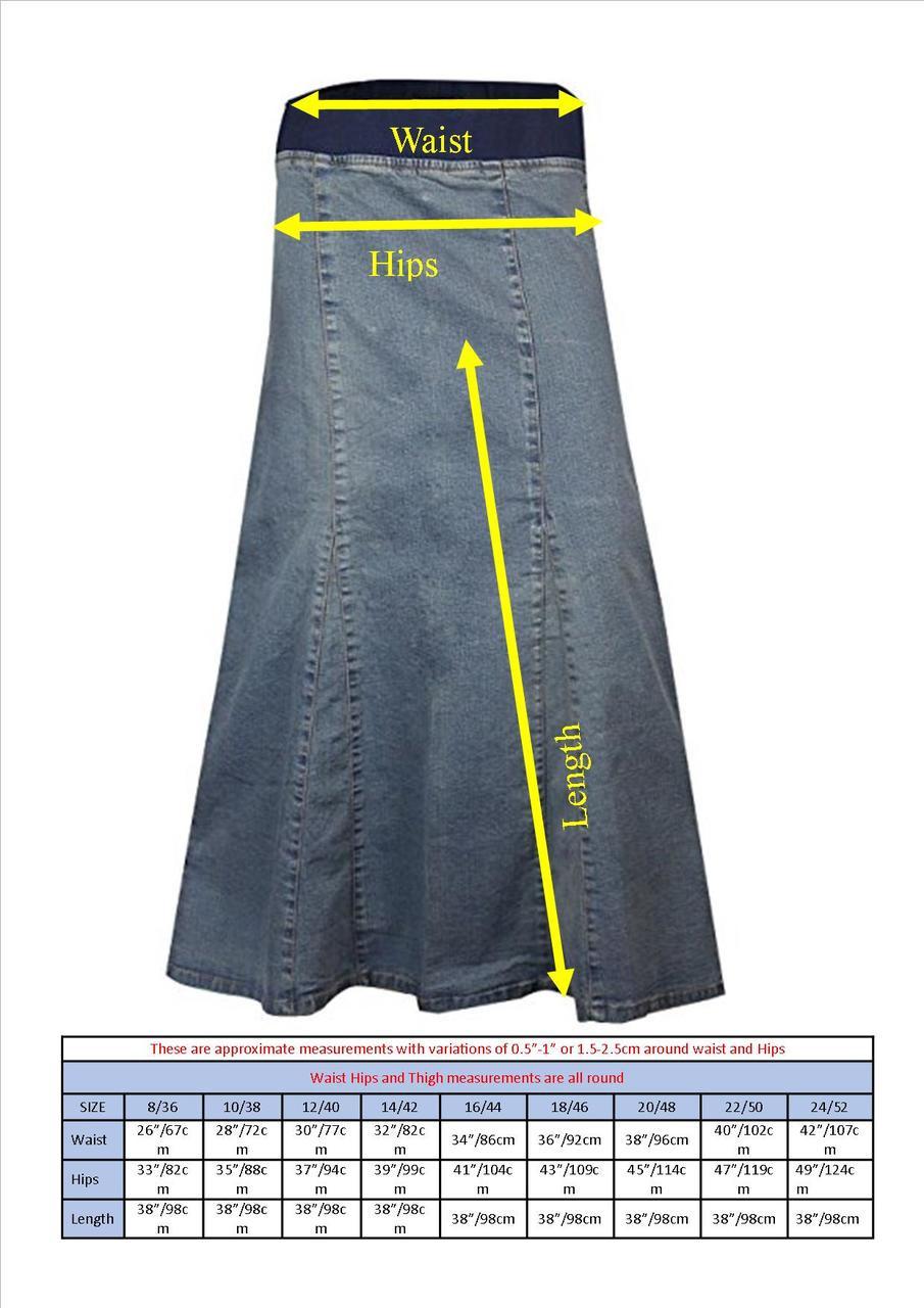318a7969114d Denim Skirts Knee Length For Women UK   Maternity Long Denim Skirts Plus  Size