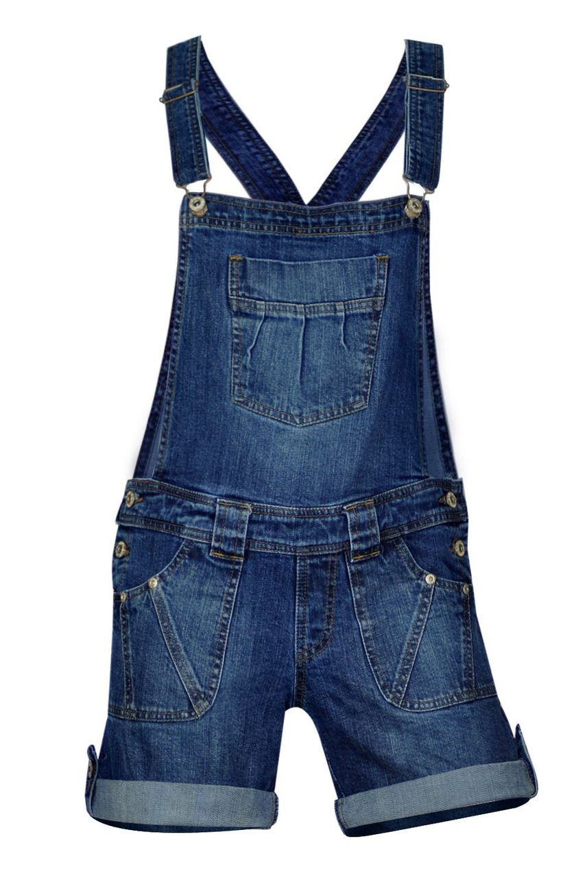 select for official quite nice reliable reputation Clove Boys & Girls Short Soft Wash Stretch Blue Denim Dungarees age 5 6 7 8  9 10 11 12