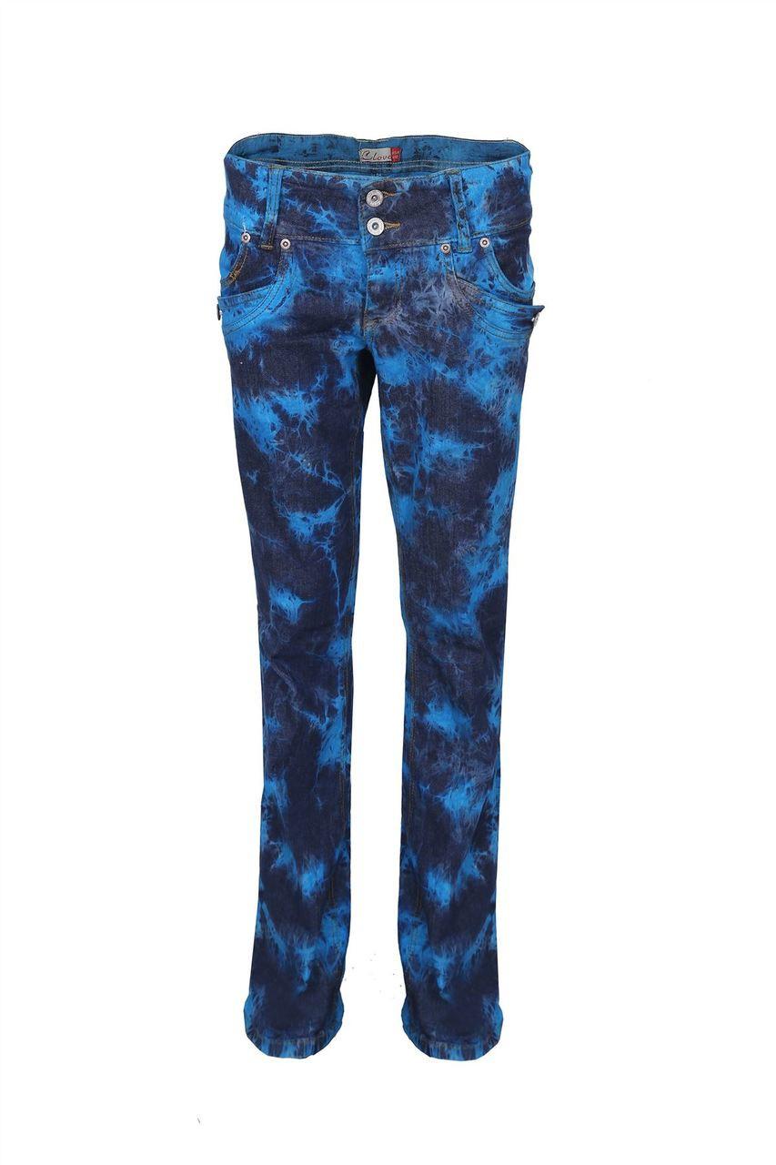 a7ffb6542e0 Clove Women s Jeans Boot Cut Low Rise Turquoise Black Blue Tie Dye Size 10  - 24 - Jeans Oasis