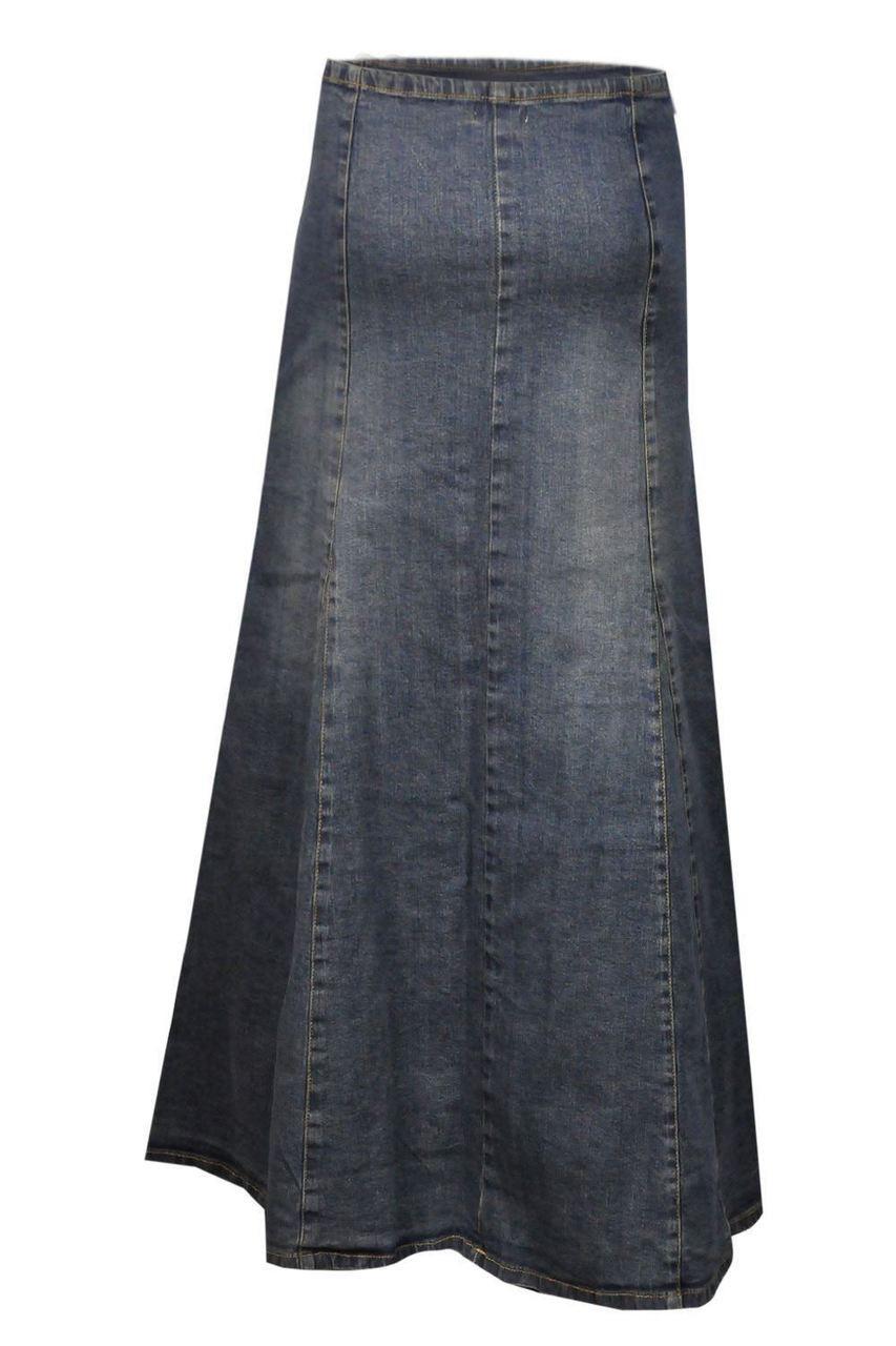 9b1d2434fd2 Clove Womens a Line Skirt Blue Stretch Denim