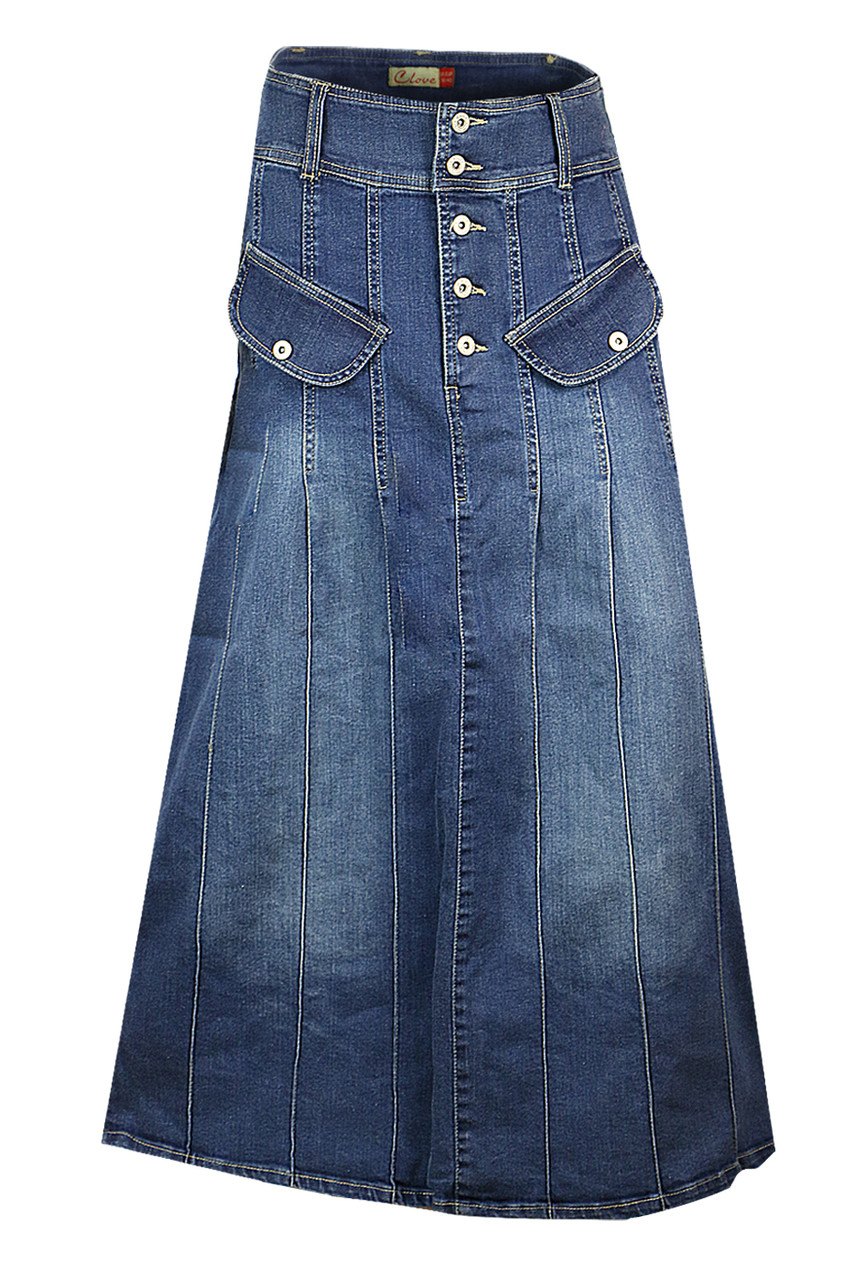 Shop Latest Full Denim Skirts Online  ea4e6a963