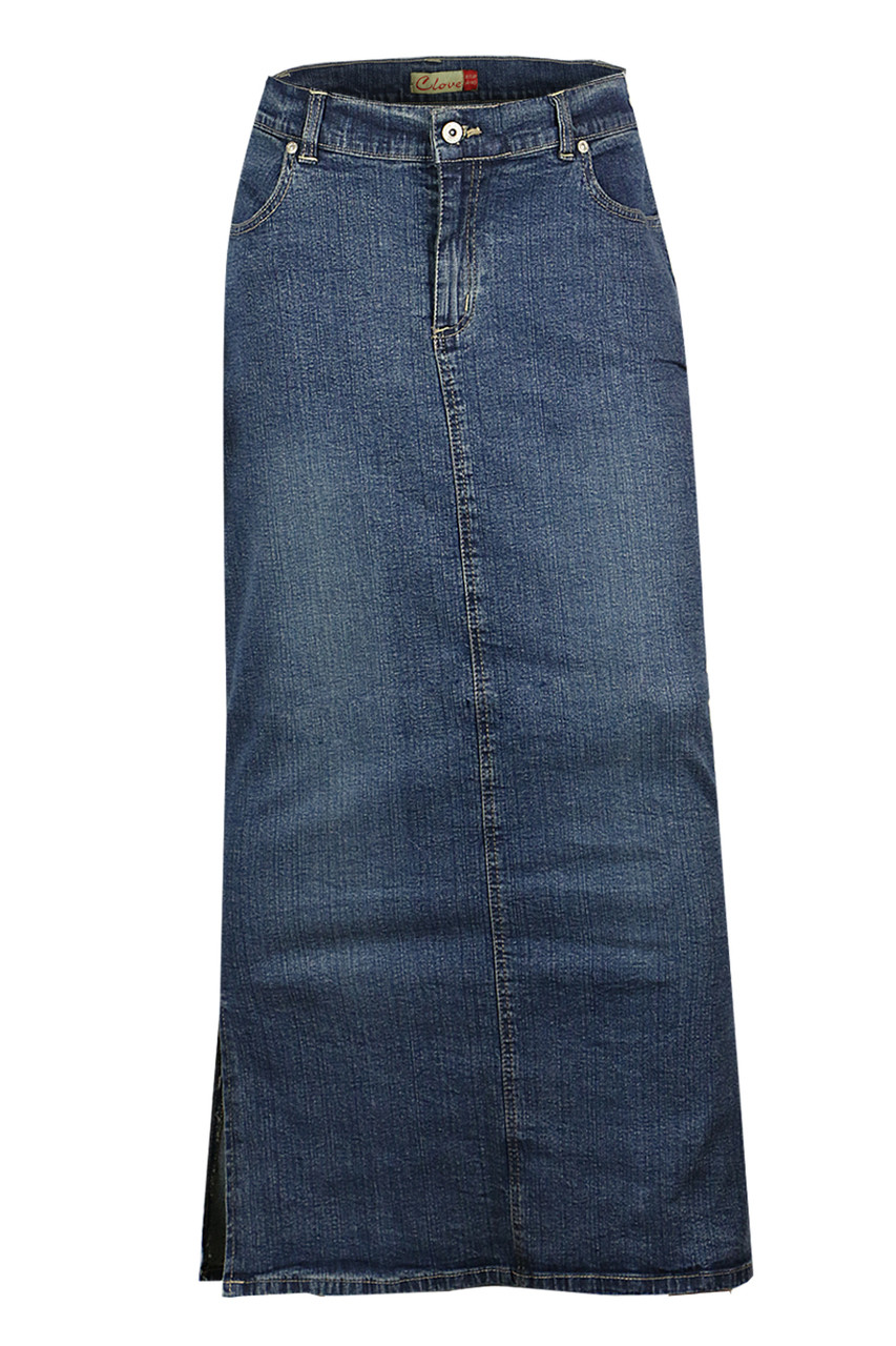 3abb39c0c9 Women Long Length Denim Plus Size Pencil Maxi Skirts