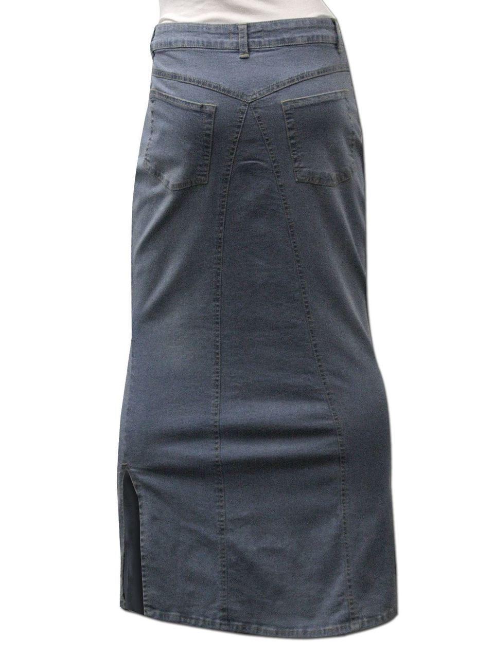 9e222effcd5 Women Long Length Denim Plus Size Pencil Maxi Skirts