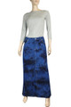 blue jean skirts elastic waist