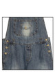 Coin Pocket Womens Ladies Blue Denim Jeans Capri Dungarees Comfort Fit