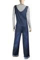 Clove Soft Blue Denim Long and Tall Maternity Dungarees Plus Size