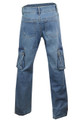 Blue Stretch Denim distress Vintage look Combat Jeans Plus size 16 18 20 22 24