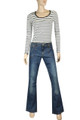 Clove Blue Stonewash Culture Boot Cut Low Rise Jeans Plus Size 14 - 24