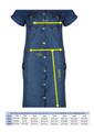 Clove Womens Dress Blue Denim Short Sleeves Button Up Combat Style