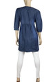 Clove Womens Dress Denim A-line Round Neck Three-fourth Sleeves