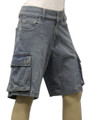 Clove Womens Blue Stretch Denim Vintage look Combat Shorts Plus Size