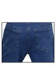 Capri Strech Denim Jeans Blue  Back Pocket  View